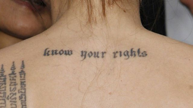 Los tatuajes de Angelina Jolie (fotos)