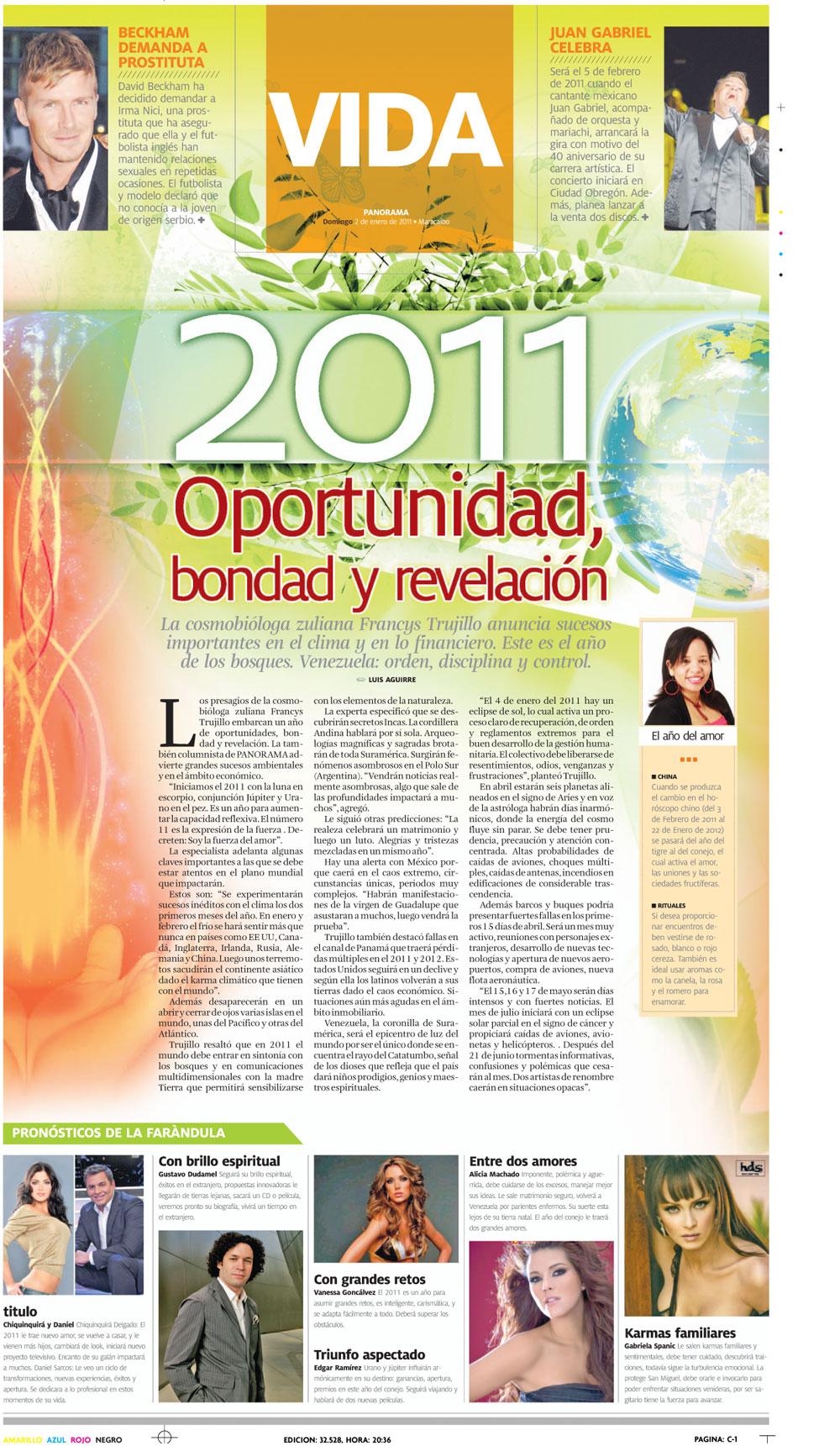 Las predicciones de Francis Trujillo para Venezuela en el 2011