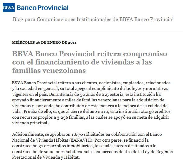 BBVA Banco Provincial reitera compromiso con el financiamiento de ...