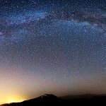 El arco de la Vía Láctea sobre la histórica ciudad de Ishafan