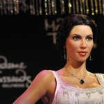 The wax figure of television personality Kim Kardashian is unveiled at Madame Tussauds museum in Hollywood