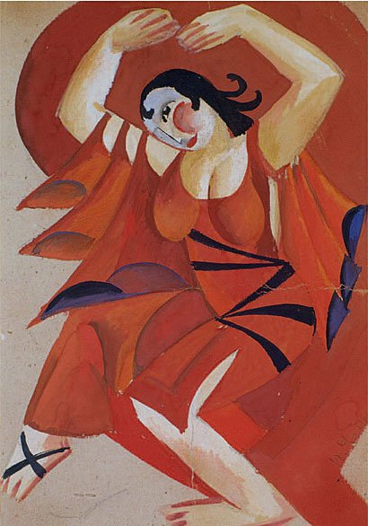 Pavel Tchelitchew Costume Design (La Baccante by Victor Zimin), 1919/20 Gouache on card, 11 3/8 x 7 7/8 inches