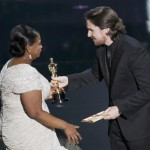 Bale presents the Oscar to Spencer, for best supporting actress for her role in