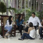 Venezuelan President Chavez chats with his family while recovering in La Habana