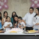 Venezuelan president Chavez celebrates the birthday of his daughter Maria Gabriela with his family in La Habana