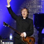 Singer Paul McCartney performs at the Defensores del Chaco stadium in Asuncion