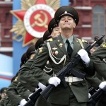 Russian servicemen take part in the Victory Parade on Moscow's Red Square