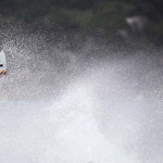 Souza of Brazil surfs during the men's ASP Billabong Rio Pro championship at Barra da Tijuca beach in Rio de Janeiro