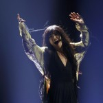 Loreen of Sweden performs her song