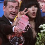 Loreen of Sweden gestures after winning the Eurovision song contest in Baku