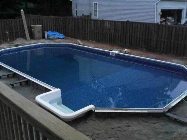Фото строительство бассейна своими руками