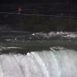 Aerialist Nik Wallenda Attempts To Cross Niagara Falls On A Tightrope