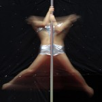 Contestant Liu Xinyu competes during the 2nd China Pole Dance semi-final in Tianjin municipality