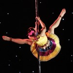 Contestant Sun Wenzhu competes during the 2nd China Pole Dance final in Tianjin municipality