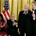 US President Bush presents medal of freedom to actor Andy Griffith at White House in Washington