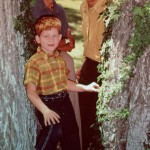 Actors Andy Griffith and Ron Howard are pictured in a scene from