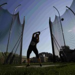 Heather Stacey of Canada competes in the women's hammer throw at the Toronto International Track & Field Games in Toronto