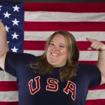 Weightlifter Holley Mangold poses for a portrait during the 2012 U.S. Olympic Team Media Summit in Dallas, Texas