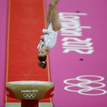 McKayla Maroney of the U.S. competes in the women's gymnastics vault final during the London 2012 Olympic Games