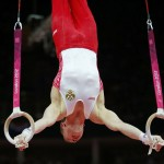 Russia's Denis Ablyazin competes in the men's gymnastics rings final during the London 2012 Olympic Games
