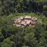 An aerial view shows the Yanomami Indian community of Irotatheri