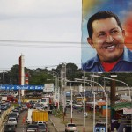 A campaign billboard of Venezuela President Hugo Chavez is seen in Barinas