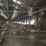 Staten Island Railway's Clifton Shop in the aftermath of Hurricane Sandy