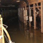 Handout of flooding in the New York City transit system is shown in the aftermath of Hurricane Sandy
