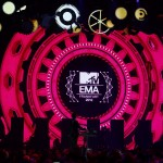 A general view of the MTV European Music Awards 2012 show at the Festhalle in Frankfurt