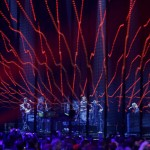 American rock band The Killers perform during the MTV European Music Awards 2012 show at the Festhalle in Frankfurt