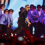 South Korean singer PSY performs during the MTV European Music Awards 2012 show at the Festhalle in Frankfurt