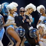 U.S. rapper Pitbull performs during MTV European Music Awards 2012 in Frankfurt