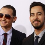 Members of rock band Linkin Park arrive at the 40th American Music Awards in Los Angeles