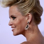 Actress Jenny McCarthy arrives at the 40th American Music Awards in Los Angeles