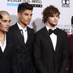 Rock band The Wanted arrive at the 40th American Music Awards in Los Angeles