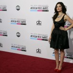 Actress and singer Lucy Hale arrives at the 40th American Music Awards in Los Angeles
