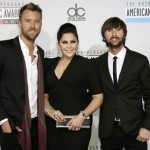 Lady Antebellum arrive at the 40th American Music Awards in Los Angeles