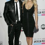 Mark Ballas and girlfriend Tiffany Dunn arrive at the 40th American Music Awards in Los Angeles