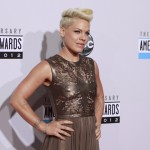 Singer Pink arrives at the 40th American Music Awards in Los Angeles