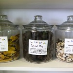 Snacks are seen in the kitchen that are provided free of charge to employees at the new Google office in Toronto