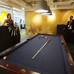 The billiards room is seen at the new Google office in Toronto