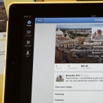 Pope Benedict XVI's twitter account is pictured with his first tweet on an  iPad tablet in this photo illustration taken in Milan