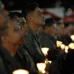 Military personnel attend a mass to pray for Venezuela's President Hugo Chavez in Caracas