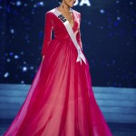 Miss USA 2012 Culpo competes in an evening gown of her choice during the Evening Gown Competition of the 2012 Miss Universe Presentation Show in Las Vegas