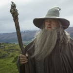 "Publicity photo shows actor McKellan as Gandalf in a scene from the film ""The Hobbit: An Unexpected Journey"""