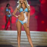 Miss Australia Ayris competes in her Kooey Australia swimwear and Chinese Laundry shoes during Swimsuit Competition of 2012 Miss Universe Presentation Show in Las Vegas