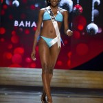 Miss Bahamas Marshall competes in her Kooey Australia swimwear and Chinese Laundry shoes during Swimsuit Competition of the 2012 Miss Universe Presentation Show at PH Live in Las Vegas
