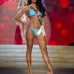Miss Cayman Islands Japal competes during the Swimsuit Competition of the 2012 Miss Universe Presentation Show at PH Live in Las Vegas