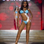 Miss Curacao 2012 Jansen competes during the Swimsuit Competition of the 2012 Miss Universe Presentation Show at PH Live in Las Vegas