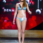 Miss Denmark Hewitt competes during Swimsuit Competition of the 2012 Miss Universe Presentation Show at PH Live in Las Vegas
